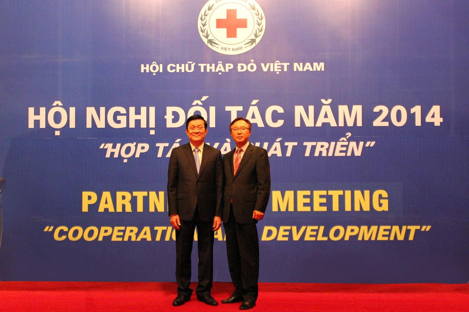 Tham dự hội nghị đối tác của trung ương hội CTĐ Việt Nam