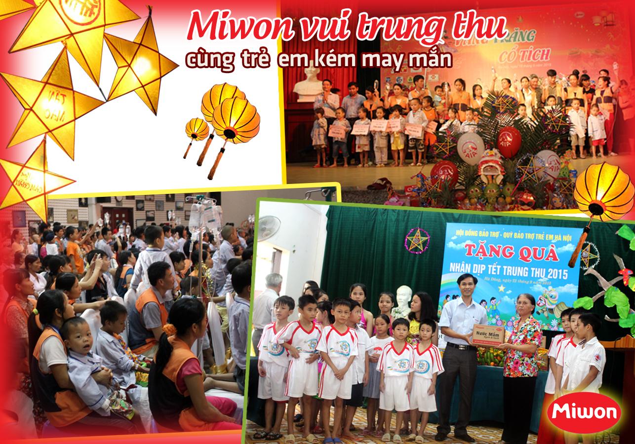 Miwon vui trung thu cùng trẻ em kém may mắn